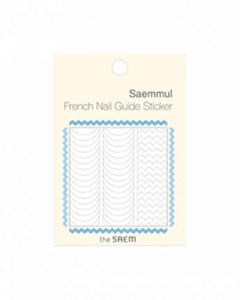 Наклейки для ногтей the SAEM French Nail Guide Sticker 01 Zig Zag