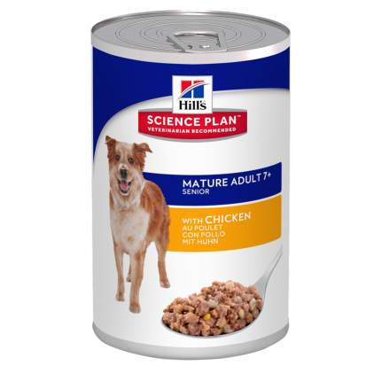 Консервы для собак Hill's Science Plan Mature Adult 7+ Active Longevity, курица, 370г