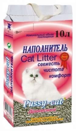 Наполнитель Pussy-Cat древесный 10 л 5 кг хвоя