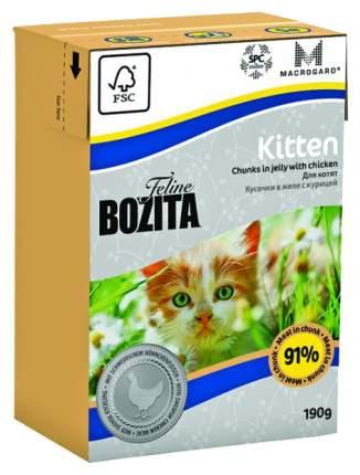 Консервы для котят BOZITA Feline Kitten, с курицей в желе, 190г