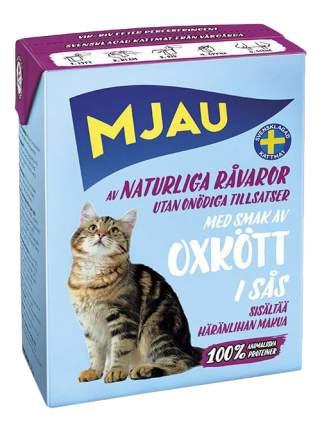 Влажный корм для кошек Mjau Chunks in Sauce, мясные кусочки в соусе с говядиной, 380г