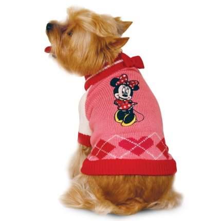Свитер для собак Triol Minnie размер XS женский, розовый, красный, белый, длина спины 20см