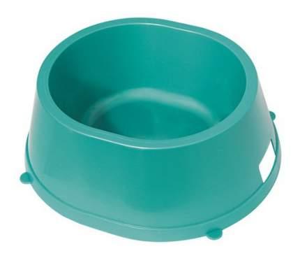 Одинарная миска для кошек и собак Gamma, пластик, голубой, 1.6 л