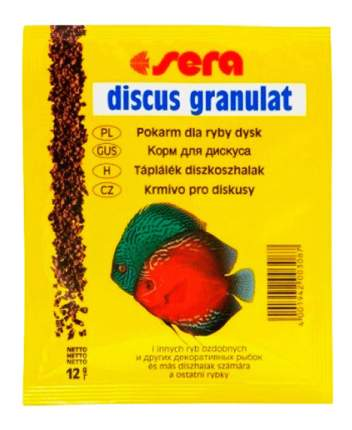 Корм для дискусов Sera Discus Granulat, гранулы, 12 г