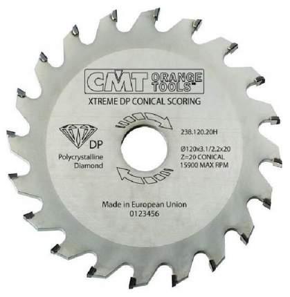 Диск пильный 120x20x3.1-3.7/ 5° CON Z=20 (DIA) CMT 238.120.20H