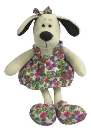 Мягкая игрушка Teddy Собака в платье с цветами, 16 см