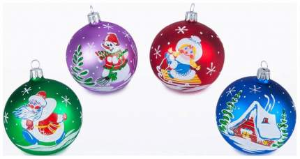 Набор шаров Елочка Зимушка-зима разноцветный C1244