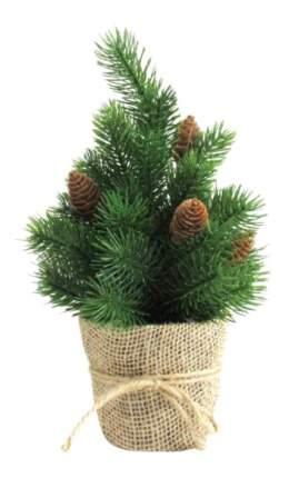 Ель искусственная Новогодняя сказка декоративная шишки зеленая 30.5 см