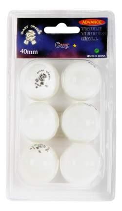 Мячи для настольного тенниса Giant Dragon Advance B23021 белые, 6 шт.