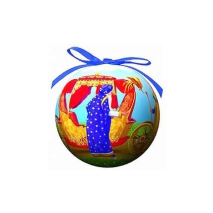 Пластиковый елочный шар Сказка о Золотом петушке 100 мм 020265