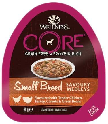 Консервы для собак Wellness CORE, куриное филе с индейкой, морковью и зеленой фасолью, 85г