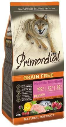 Сухой корм для щенков Primordial Grain Free Puppy, курица, рыба, 12кг