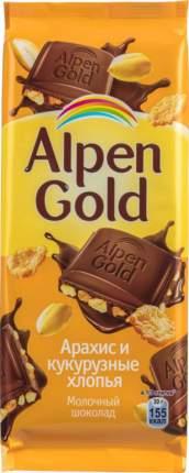 Шоколад молочный Alpen Gold арахис и кукурузные хлопья 85  г