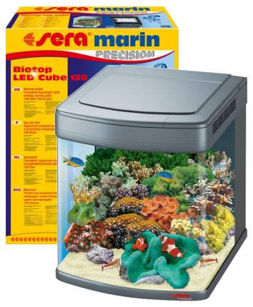 Аквариум для рыб Sera Marin Biotop LED Cube, с изогнутым стеклом, 130 л