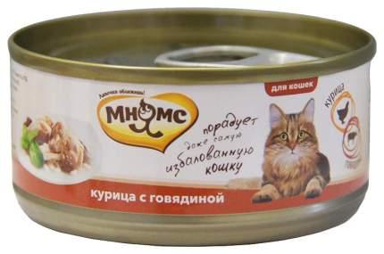 Консервы для кошек Мнямс, с курицей, кусочки, 70г