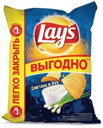 Картофельные чипсы Lay's сметана и лук 225 г
