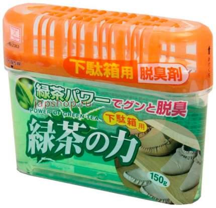 Поглотитель неприятных запахов Kokubo для обувных шкафов,экстракт зеленого чая 150 г