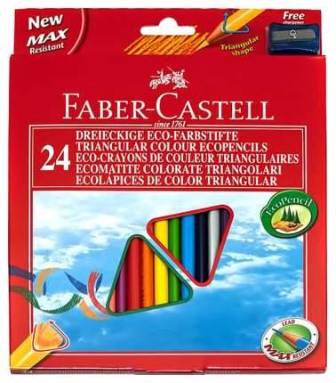 Цветные карандаши Faber-Castell ECO Замок с точилкой, 24 шт