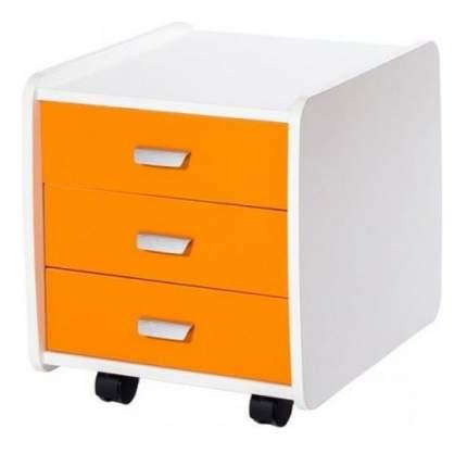 Тумба детская Астек Лидер 3 ящика 07961-5 оранжевый с цветными фасадами