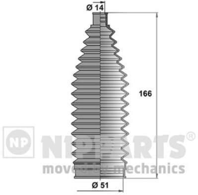 Пыльник рулевой рейки Nipparts N2845012