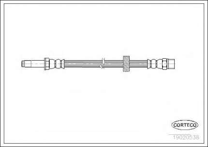 Шланг тормозной Corteco 19020538