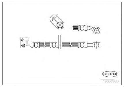 Шланг тормозной системы Corteco 19032983