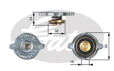 Крышка системы охлаждения Gates RC113