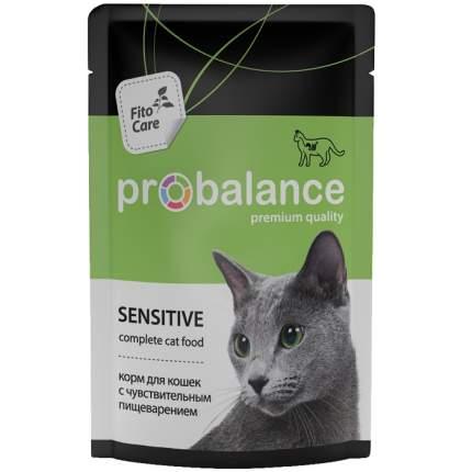 Влажный корм для кошек ProBalance Sensitive, мясо, 25шт, 85г