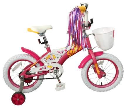 Велосипед двухколесный Stark Tanuki 14 Girl 2019 Розовый/Белый/Желтый
