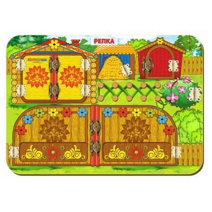 Развивающая игрушка бизиборд репка 27 5 х 19 5 см Woodland 112106