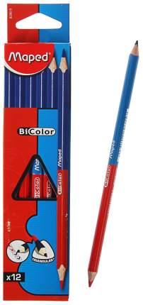 Карандаш двухцветный BICOLOR Maped синий/красный