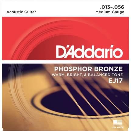 Струны для акустической гитары D ADDARIO EJ17