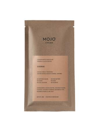 Белый шоколад Mojo Cacao с гречишным чаем со вкусом печенья cookie