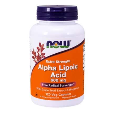 NOW Alpha Lipoic Acid 600 мг (120 капсул) - альфа-липоевая кислота