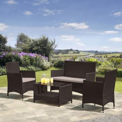 Комплект мебели из иск, ротанга AFM-2025B Black