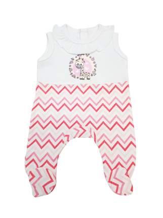 Комбинезон для куклы Колибри 103 белый с розовыми полосами