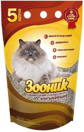 Впитывающий наполнитель для кошек Зооник бентонитовый, 3.5 кг, 5 л