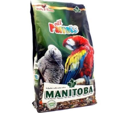 Корм для птиц Manitoba, зерновой, для крупных попугаев, 800 г