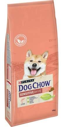 Сухой корм для собак Dog Chow Sensitive, с чувствительным пищеварением, лосось, 14кг