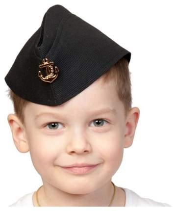 КАРНАВАЛОФФ Пилотка ВМФ чёрная детская 5249