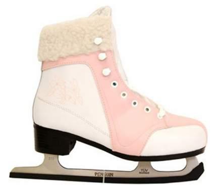 Коньки фигурные Penguin 215J, pink/white, 36 RU