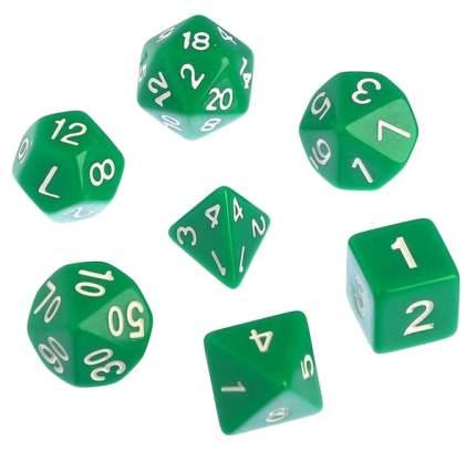 Классический набор дайсов, набор из 7 костей, зеленые Sima-Land