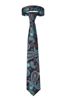 Классический галстук Танец отражений со стильным принтом Signature 204430 бирюзовый