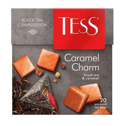 Чай черный Tess caramel charm 20 пакетиков