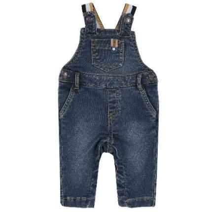 Полукомбинезон джинсовый Chicco для мальчиков р.80 цв.синий