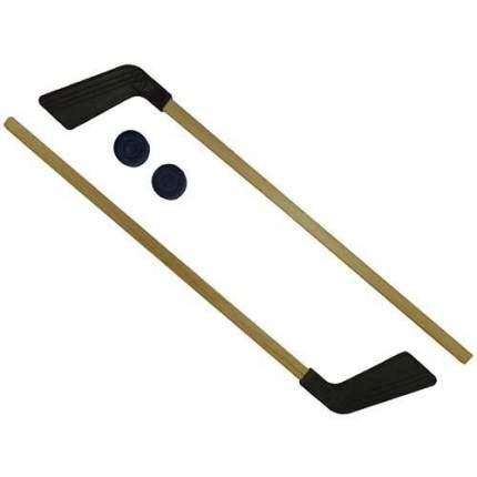 Набор клюшка детская хоккейная 80 см 2 шт. + 2 шайбы КХ-2-55