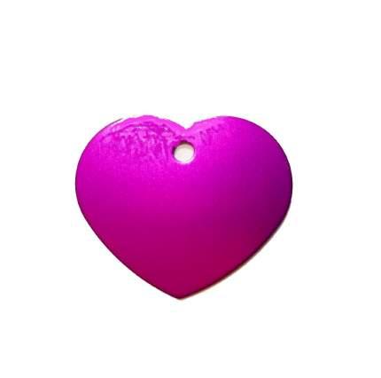 Адресник на ошейник для собак BestforPet, в форме сердца, фиолетовый, 3,2см