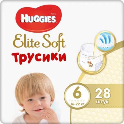 Подгузники-трусики Huggies Elite Soft 6 16-22 кг 28 шт.