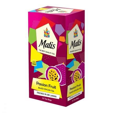 Чай Matis Пешн фрут черный с добавками 25 пакетиков