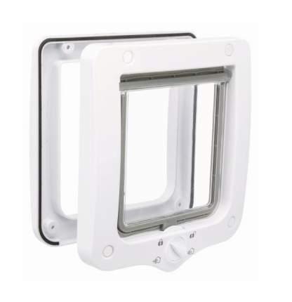 Дверца для кошки TRIXIE 4-Way, белая, 15,9х16,8см